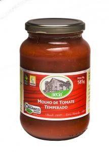 Molho de Tomate Temperado Orgânico Aecia - 585g