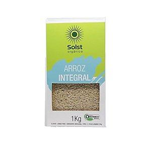Arroz Longo Fino Integral Orgânico Alto Vácuo Solst - 1kg