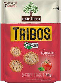Salgadinho Tribos Integral Orgânico - Sabor Tomate e Manjericão Mãe Terra - 50g