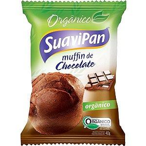 Muffin Orgânico Chocolate Suavipan - 40g