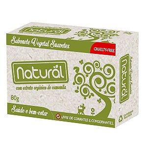 Sabonete Natural com Extrato Orgânico de Camomila - Suavetex - 80g