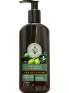 Creme Capilar de Oliva com Argan (sem sal e sem corantes / CABELOS CRESPOS) Multi Vegetal - 240ml