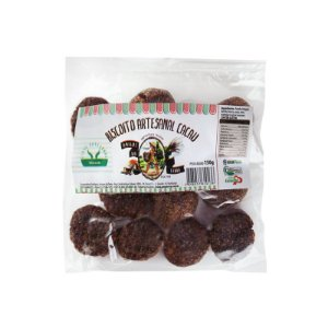 Biscoito Artesanal Orgânico de Cacau 150g - Sítio Pé na Terra