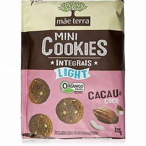 Mini Cookies Integrais LIGHT Orgânico - Cacau e Coco Mãe Terra - 120g