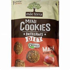 Mini Cookies Integrais DIET Orgânico - Maçã e Canela Mãe Terra - 120g