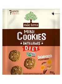 Mini Cookies Integrais DIET Orgânico - Damasco Mãe Terra - 120g