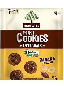 Mini Cookies Integrais Orgânico - Banana e Cacau Mãe Terra - 120g