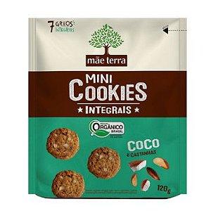 Mini Cookies Integrais Orgânico Coco e Castanhas Mãe Terra - 120g