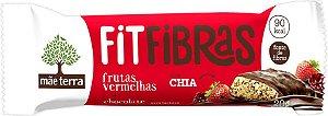 Barra Cereal Fit Fibras Frutas Vermelhas e Chocolate - Mãe Terra - 20g
