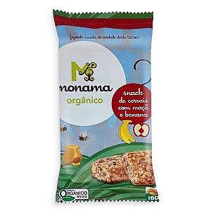 Snack Cereais sabor Maçã e Banana Orgânico - Monama 30g