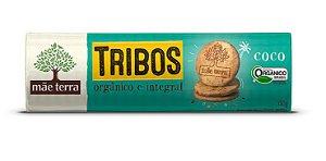 Biscoito Integral Tribos Orgânico - Sabor Coco - Mãe Terra - 130g