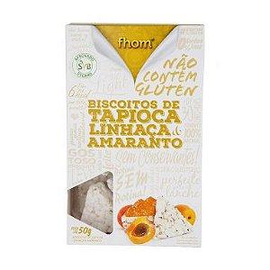 Biscoito de Tapioca com Linhaça e Amaranto - Fhom - 50g