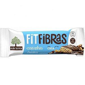 Barra Cereal Fit Fibras Castanhas e Chocolate - Mãe Terra - 20g