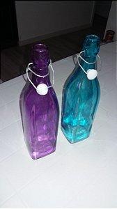 Garrafas coloridas 1 litro