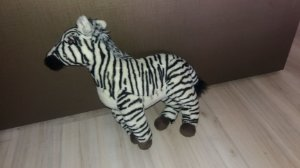 Zebra de pelucia