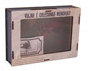 Caixa Quadro de Lembranças Volta ao Mundo - UATT