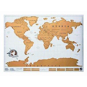 Mapa Mundi Raspável Scratch Map Raspadinha
