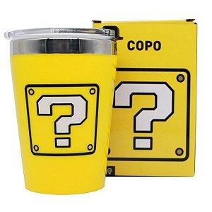 Copo Viagem Snap 300ml Cubo de Interrogação - Super Mario