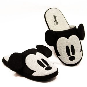 Pantufa / Chinelo de Quarto Mickey Mouse Cinza G (39 - 41)