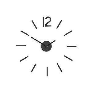 Relógio de Parede 30cm Blink Preto Minimalista DIY  -  Umbra