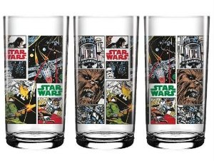 Copo Vidro Longo 300ml Star Wars - Comics