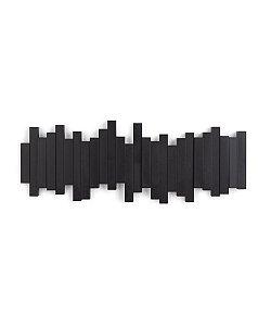 Cabideiro de Parede 5 Ganchos Sticks Preto - Umbra