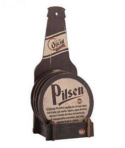 Conjunto 4 Porta Copos com Suporte - Tipos de Cerveja