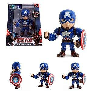 Boneco Metals DieCast Civil War - Capitão América