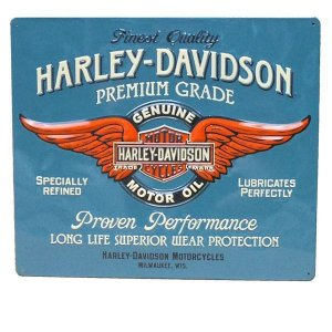Placa decorativa G Metal Harley Davidson