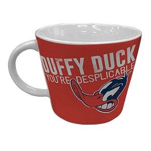 Caneca Porcelana Jumbo Patolino Daffy Duck - Looney Tunes