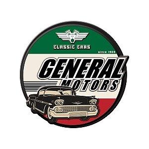 Placa de Metal Parede 40cm Classic Cars - General Motors
