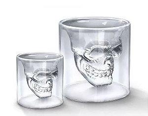 Copo de Vidro Grande Caveira de Cristal Skull Doomed - 150ml