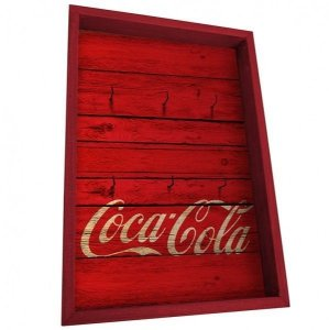 Porta Chaves Coca Cola - Wood Style