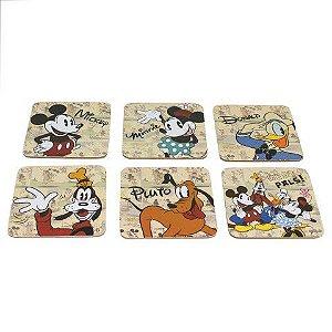 Conjunto 6 Porta Copos Turma Mickey - Disney Oficial