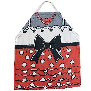 Avental de Cozinha Minnie Laço- Disney Oficial