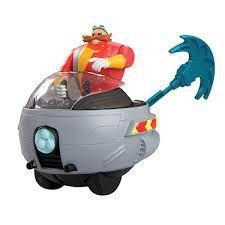 Boneco Dr. Eggman Articulado c/ Eggmobile e Lançador - Tomy Oficial