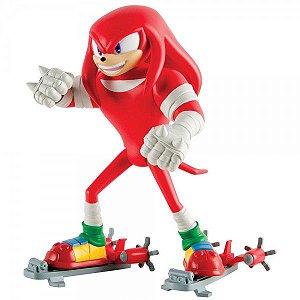 Boneco Articulado Knuckles c/ Skate  - Sonic Boom Tomy Oficial
