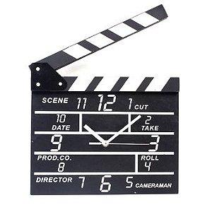 Relógio de Parede Claquete de Cinema