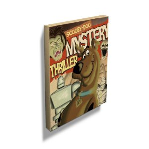 Quadro Tela Scooby Doo Mystery Thriller Cover Page - Hanna Barbera