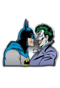 Placa de Metal Recortada Batman e Coringa, Joker - DC Comics