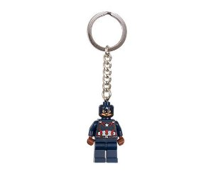 Chaveiro Lego Oficial Capitão América - Marvel