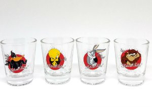 Conjunto 4 Copos Shot Personagens Looney Tunes - That´s All