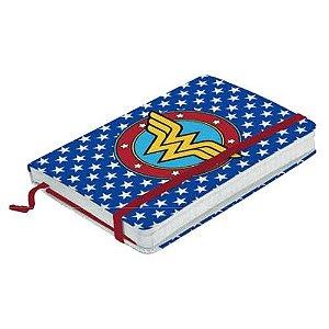 Caderneta Mulher Maravilha Logo Estrelas - DC Comics