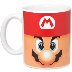 Caneca de Porcelana 330ml Super Mario