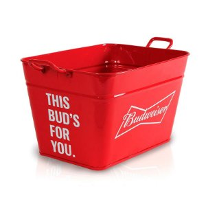 Balde Retangular 6 Litros Budweiser - Licenciado
