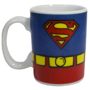 Caneca Porcelana Mini Super Homem Uniforme - DC Comics