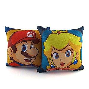 Kit Mini Almofadas Decorativas Mario e Peach