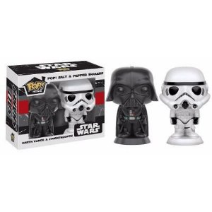 Saleiro e Pimenteiro Pop! Funko Star Wars - Darth Vader e Trooper