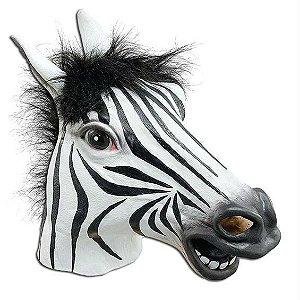 Mascara Cabeça de Zebra - Cosplay / Fantasia em Látex