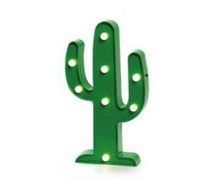 Luminaria Decorativa 3D Led Cactus Verde
